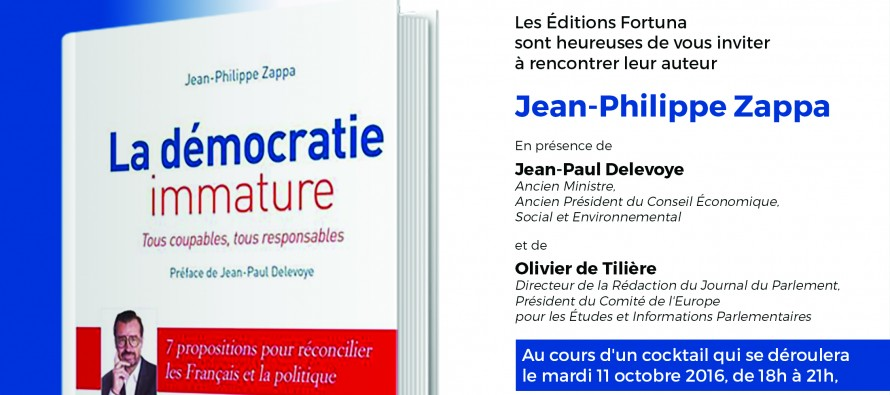Sortie du livre de Jean Philippe Zappa recommandé par notre rédaction