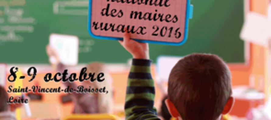 Le congrès national des maires ruraux sera à St Vincent de Boisset