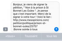 Non à la prison à St-Bonnet les Oules