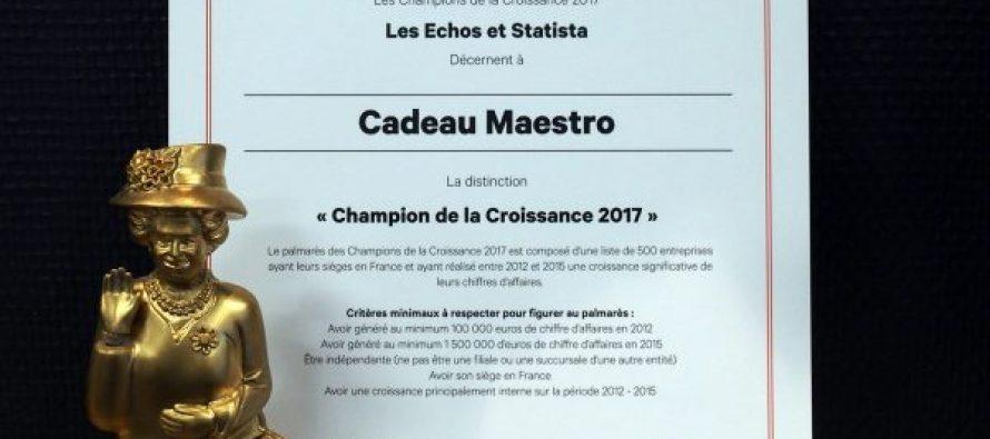Cadeau Maestro dans le top 500 des entreprises françaises avec la plus forte croissance