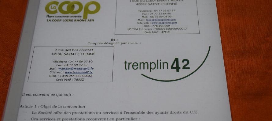 Tremplin 42 et coopérative de la Poste partenaires