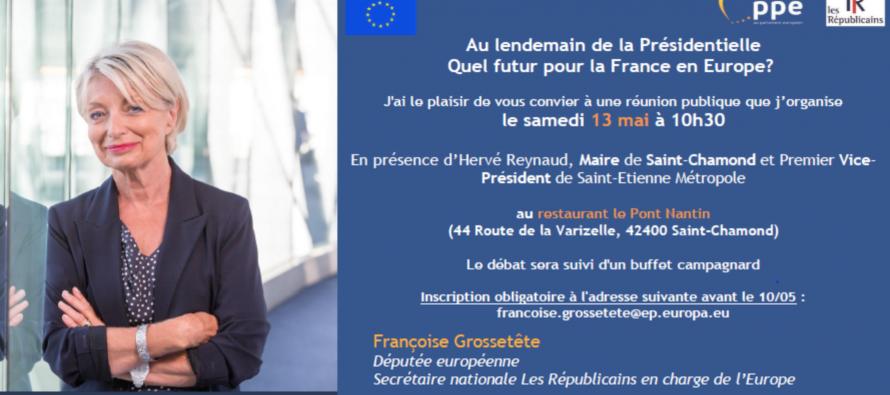 LEGISLATIVES : F Grossetête parlera de l'Europe avec Hervé Reynaud